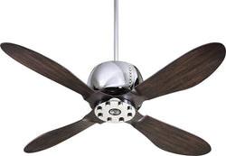 Quorum Elica 1-Light 52 4-Blade Ceiling Fan Chrome 3652414