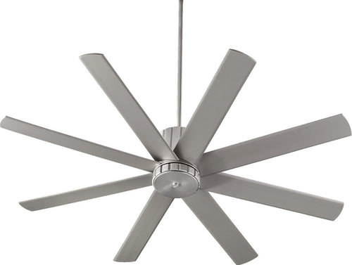 Quorum Proxima 60 inch 8 Blades Ceiling Fan Satin Nickel 96608-65