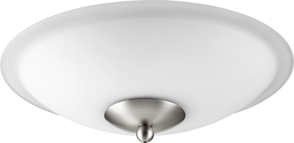 "12""W 2-light Ceiling Fan Light Kit Satin Nickel w/ Satin Opal"