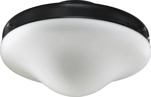 Quorum 1-Light Patio Ceiling Fan Light Kit Matte Black 1377859