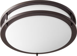 Quorum 1-light LED Ceiling Flush Mount Oiled Bronze