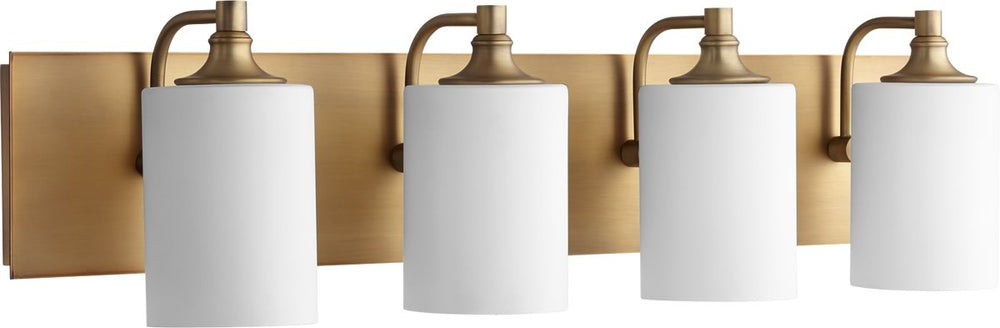 "33""W Celeste 4-light Bath Vanity Light Aged Brass"