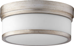 Quorum Celeste 2-light Ceiling Flush Mount Aged Silver Leaf