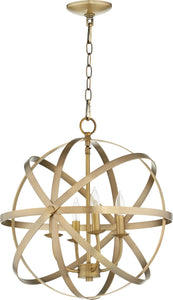 Quorum Celeste 4-light Chandelier Aged Brass