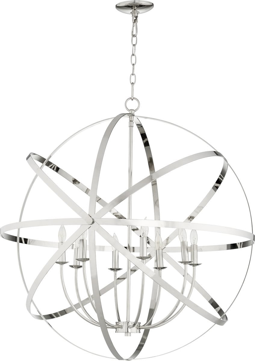 "33""W Celeste 8-light Chandelier Polished Nickel"
