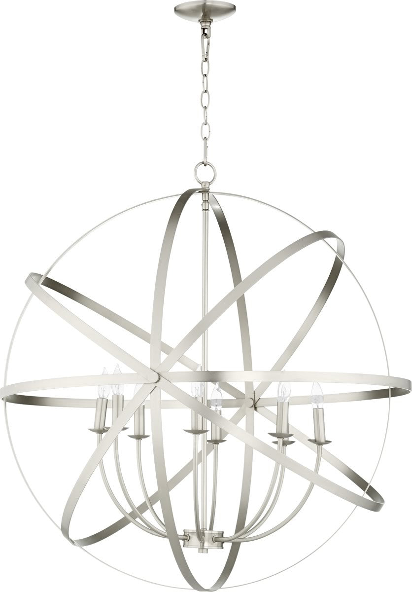 "33""W Celeste 8-light Chandelier Satin Nickel"