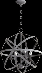Quorum Celeste 4-Light Chandelier Zinc 6009-4-17
