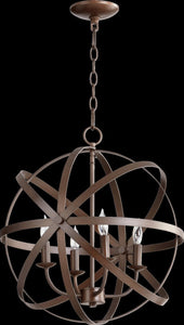 Quorum Celeste 4-Light Chandelier Oiled Bronze 6009-4-86