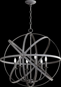 Quorum Celeste 6-Light Chandelier Zinc 6009-6-17