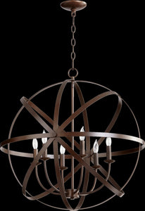 Quorum Celeste 6-Light Chandelier Oiled Bronze 6009-6-86