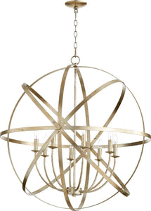 Quorum Celeste 8-Light Chandelier Aged Silver Leaf 6009-8-60