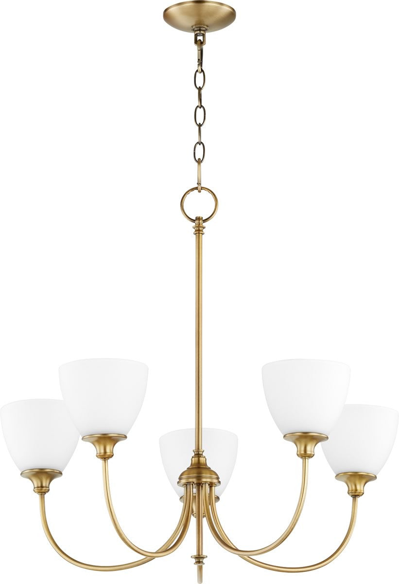 "27""W Celeste 5-light Chandelier Aged Brass"