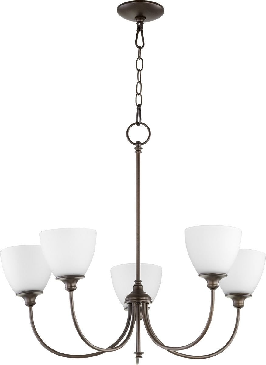 "27""W Celeste 5-light Chandelier Oiled Bronze"