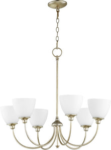 Celeste 6-light Chandelier Aged Silver Leaf