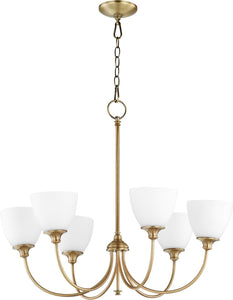 Quorum Celeste 6-light Chandelier Aged Brass