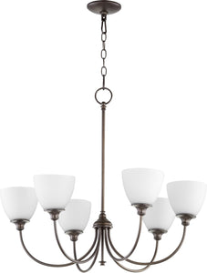 Quorum Celeste 6-light Chandelier Oiled Bronze