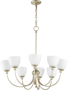 Celeste 8-light Chandelier Aged Silver Leaf