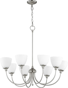 Celeste 8-light Chandelier Satin Nickel