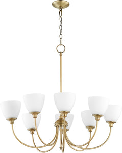 Celeste 8-light Chandelier Aged Brass