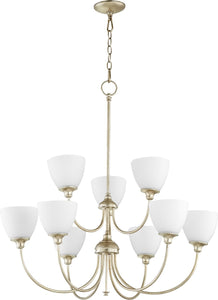 Celeste 9-light Chandelier Aged Silver Leaf