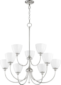 Celeste 9-light Chandelier Polished Nickel