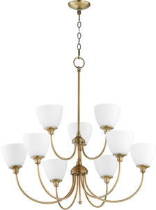 Celeste 9-light Chandelier Aged Brass