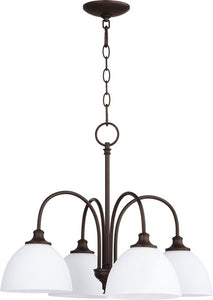 Quorum Celeste 4-light Nook Chandelier Oiled Bronze