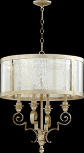 Quorum Champlain 4-Light Chandelier Aged Silver Leaf 6081-4-60