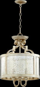 Quorum Champlain 4-Light Pendant Aged Silver Leaf 2881-16-60