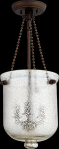 Quorum 3-Light Chandelier Oiled Bronze w/ Silver Mercury 6720-3-86