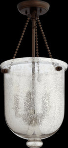 5-Light Chandelier Oiled Bronze w/ Silver Mercury