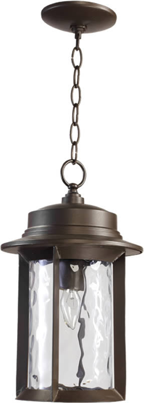 "10""W Charter 1-Light Outdoor Pendant Oiled Bronze"