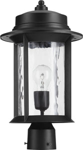 Quorum Charter 1-light Outdoor Post Lantern Noir