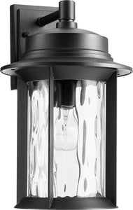 Quorum Charter 1-light Outdoor Wall Lantern Noir
