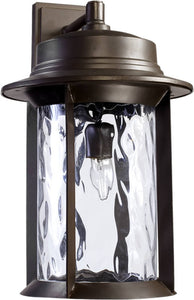 "19""h Charter 1-Light Outdoor Wall Lantern Oiled Bronze"