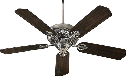 Quorum Chateaux 52 5-Blade Ceiling Fan Satin Nickel 7852565