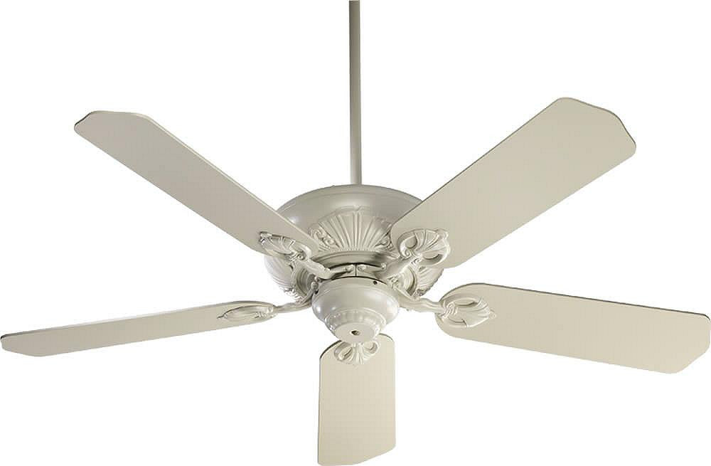 "52""W Chateaux 5-Blade Ceiling Fan Antique White"