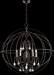 Cilia 5-Light Chandelier Oiled Bronze
