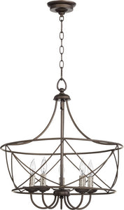 Quorum Cilia 5-light Pendant Oiled Bronze