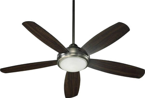"52""W Colton 3-Light 5-Blade Ceiling Fan Antique Silver"