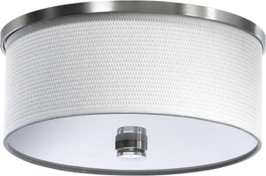 "15""W Copeland 2-Light Flush Mount Satin Nickel"