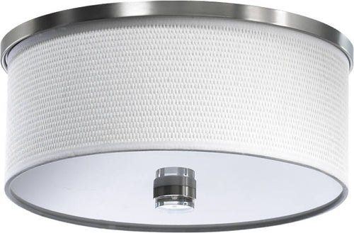 Quorum Copeland 2-Light Flush Mount Satin Nickel 6591465