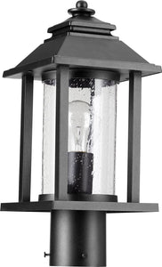 Crusoe 1-light Outdoor Post Lantern Noir