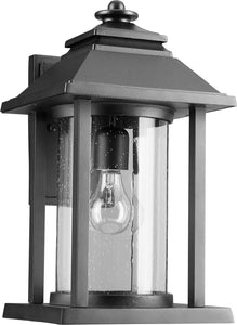 Quorum Crusoe 1-light Outdoor Wall Lantern Noir