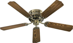 Quorum Custom Hugger 52 5-Blade Ceiling Fan Antique Brass 115254