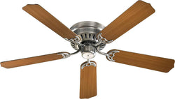Quorum Custom Hugger 52 5-Blade Ceiling Fan Satin Nickel 1152565