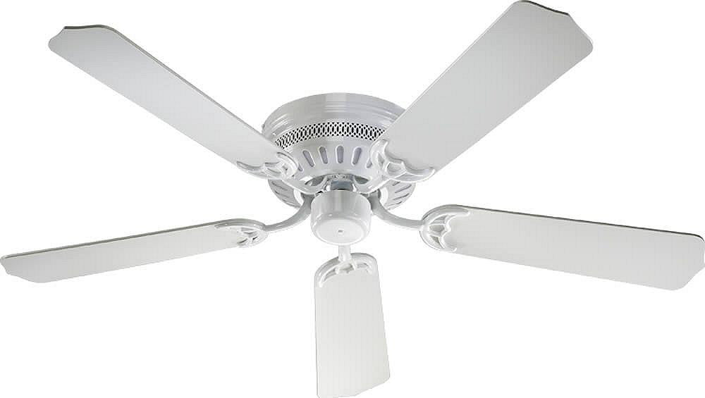 "52""W Custom Hugger 5-Blade Ceiling Fan White"