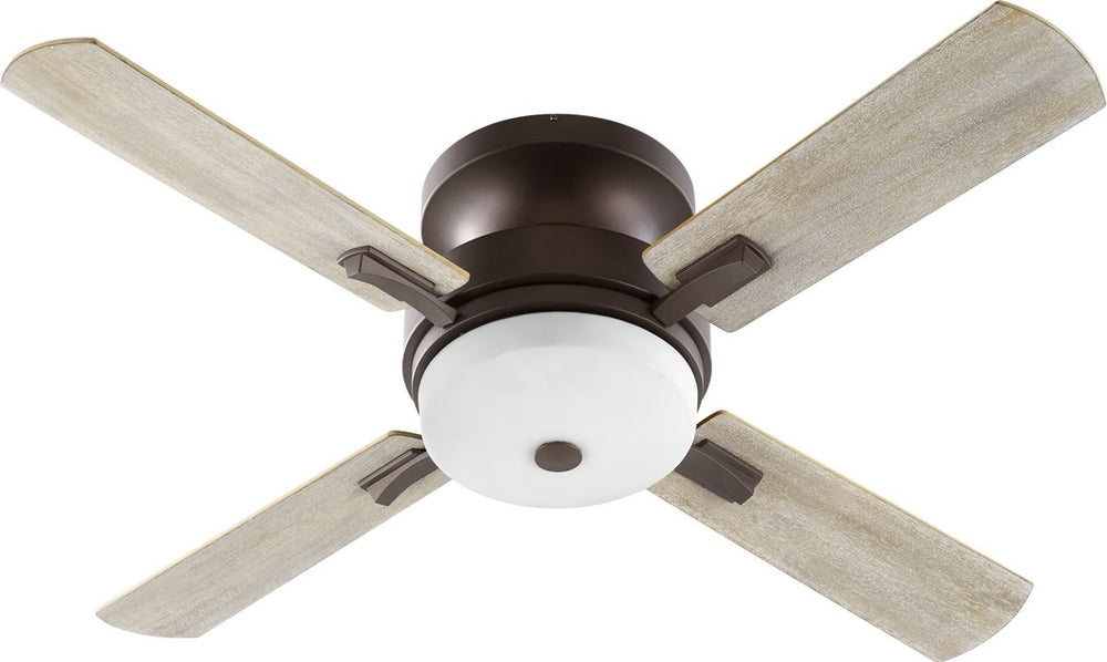 "52""W Davenport 3-light Ceiling Fan Oiled Bronze w/ Satin Opal"
