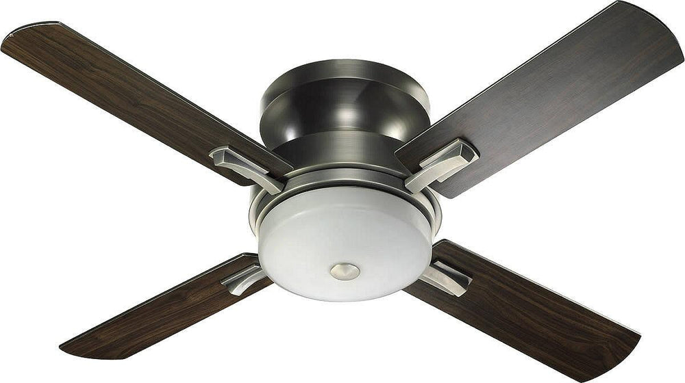 "52""W Davenport Hugger 4-Blade Ceiling Fan Antique Silver"