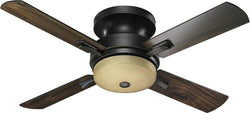 Quorum Davenport Hugger 52 4-Blade Ceiling Fan Old World 6552495